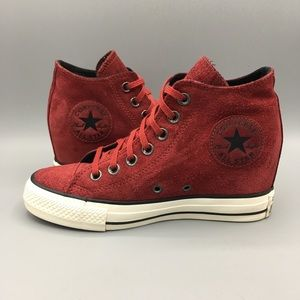 Converse All Star CT Lux Mid Suede Dahlia wedges